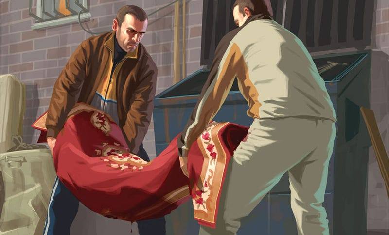 Illustration for article titled GTA IV Teams With iTunes, Dumps Amazon's Body In A Dumpster