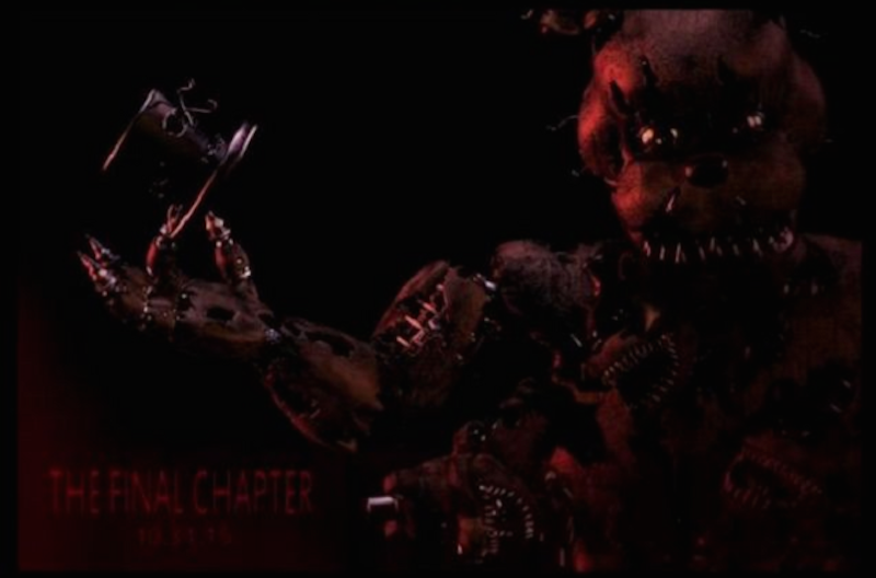 Illustration for article titled Five Nights At Freddy's 4: The Final Chapter Announced