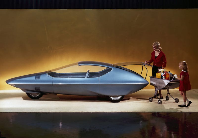 Illustration for article titled 1964: In the future, everything changes except broads still shop