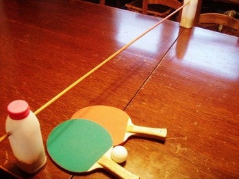Turn Dining Room Table Into Ping Pong Table