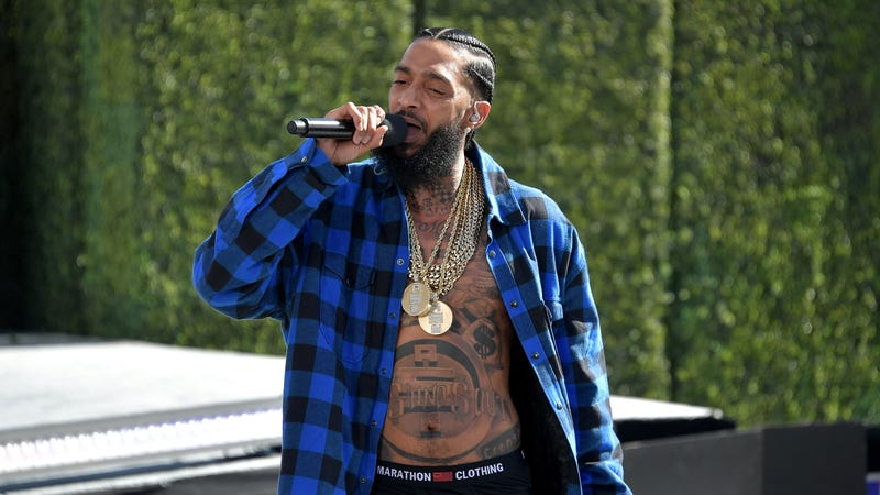 Nipsey Hussle performs onstage at Live! Red! Ready! Pre-Show, sponsored by Nissan, at the 2018 BET Awards on June 24, 2018 in Los Angeles, California.