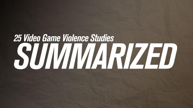 Illustration for article titled 25 Video Game Violence Studies, Summarized
