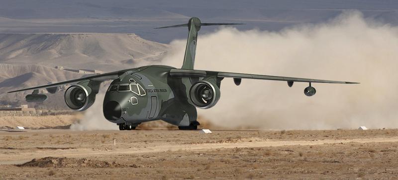 Illustration for article titled El avión militar brasileño Embraer KC-390 vuela por primera vez