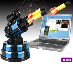 Illustration for article titled USB Missile Launcher Comes With Webcam For Optimal Accuracy