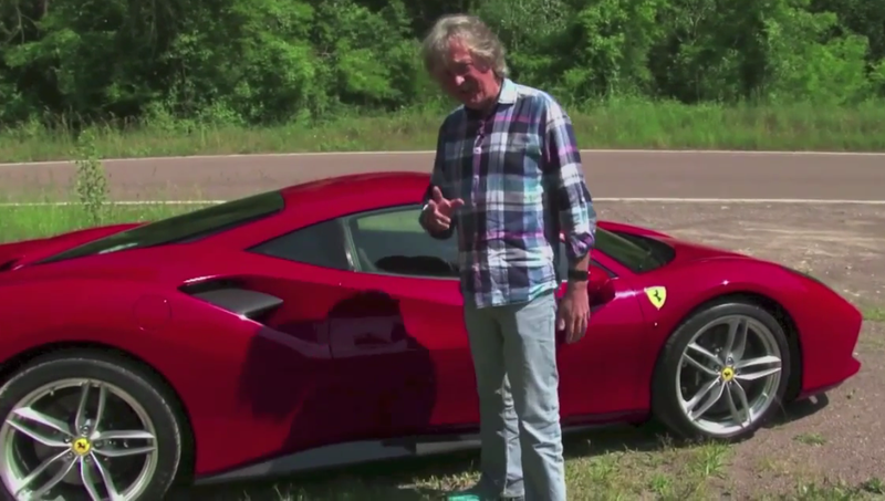 Illustration for article titled James May Reviews A Ferrari 488 GTB Like Some Normal YouTube Guy