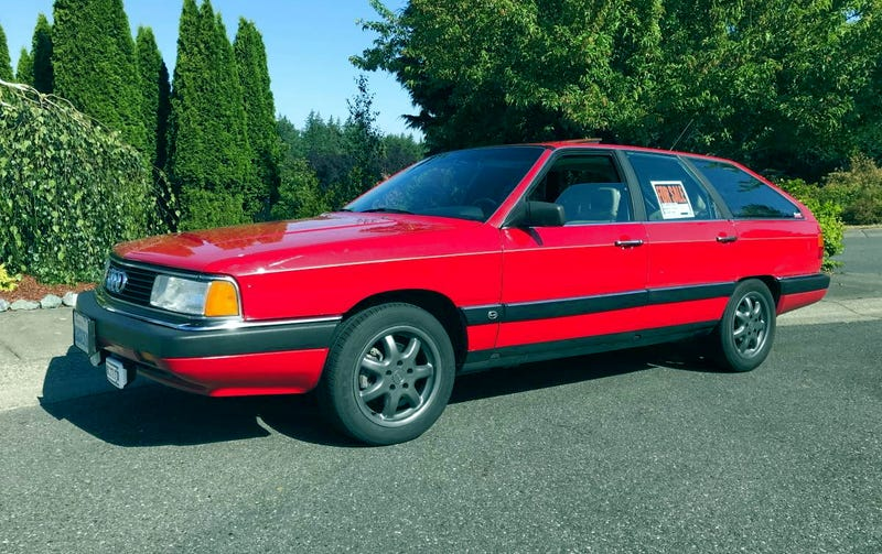 Illustration for article titled Is This 1987 Audi 5000 CS Quattro Turbo Avant Old School Cool Enough to Ask $4,500?