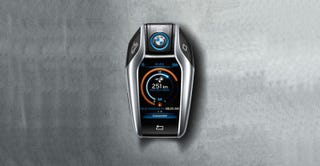 Illustration for article titled BMW's New Key Fob Is a Touchscreen Device in Its Own Right
