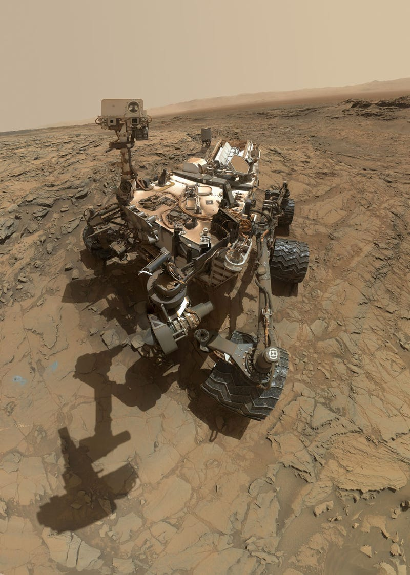 There's Something Odd in the Shadows of the Curiosity Rover's Selfie