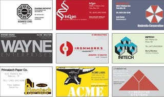 Fictional Business Cards To Fill Your Scifi Rolodex