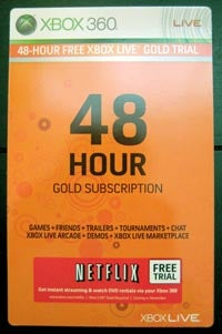 Illustration for article titled Netflix Offering Free 48-Hour Trials For Xbox 360