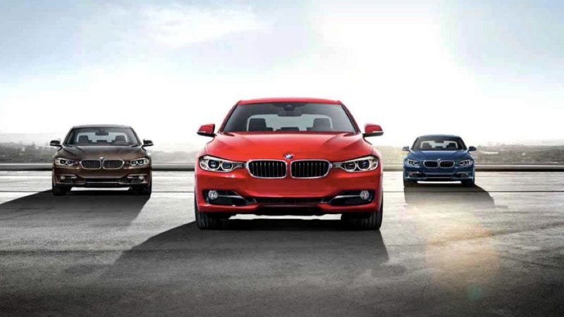 Illustration for article titled The 2012 BMW 3-Series is larger, lighter and turbo-only