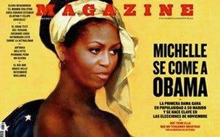 Illustration for article titled Michelle Obama Slave Image: Racist Art?