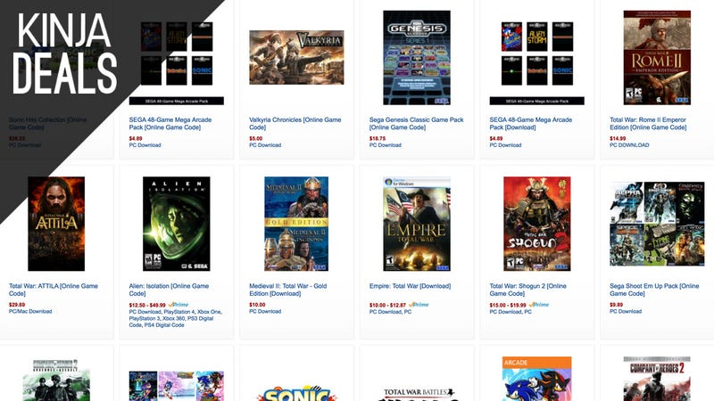 Illustration for article titled Today's Best Gaming Deals: SEGA Digital Sale, Gears of War, and More