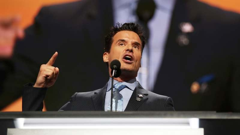 Antonio Sabato Jr. delivers a speech on the first day of the Republican National Convention on July 18, 2016. (Photo: Joe Raedle/Getty Images)
