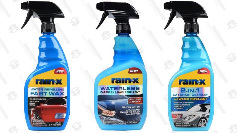 Rain-X Waterless Car Wash & Rain Repellent 32 oz. | FREE | Walmart | After rebateRain-X 2-IN-1 Exterior Detailer and Water Repellent 23 oz. | FREE | Walmart | After rebateRain-X 2-IN-1 Spray Fast Wax and Water Repellent | FREE | Walmart | After rebate