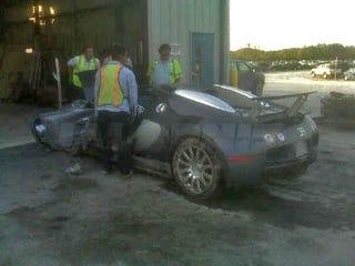 Bugatti lake crash