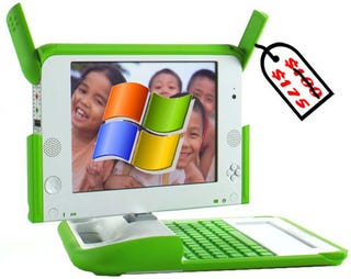 Illustration for article titled Negroponte Moots Windows XP Version of OLPC—Is It a Case of So Long, Sugar?