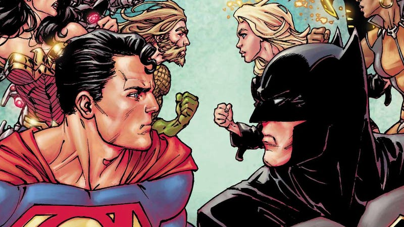 Two Justice League teams face off in Justice League #40.