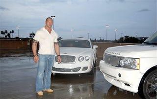 Illustration for article titled Bentley And Land Rover For Sale, Were Celebri... Uh, Wrestler-Owned!