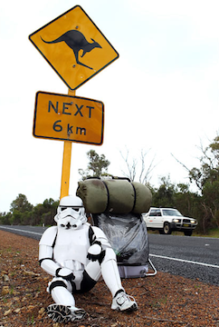 Illustration for article titled A Stormtrooper Is Walking Across Australia for Charity
