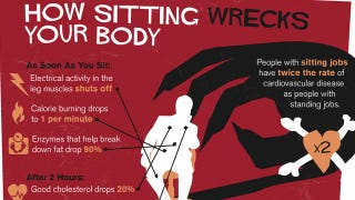 "Illustration for article titled The ""Sitting Is Killing You"" Infographic Shows Just How Bad Prolonged Sitting Is"