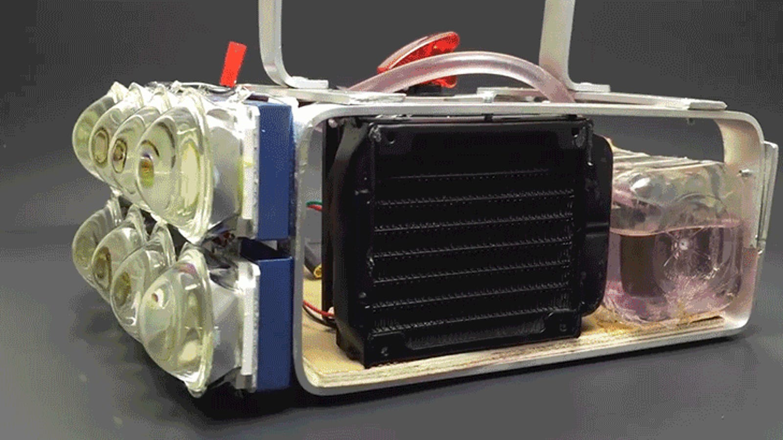 Guy Builds a Water-Cooled 72,000-Lumen Flashlight and Boy Is It Bright