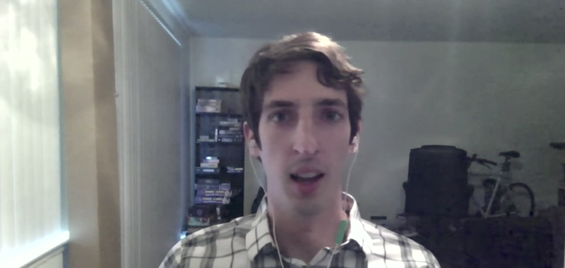 """James Damore, a former software engineer at Google, explains to Bloomberg TV how """"hurt"""" he was over his firing. (Bloomberg TV via YouTube screenshot)"""
