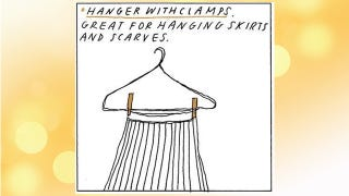 Illustration for article titled Clip Clothespins to Wire Clothes Hangers to Hold Pants and More