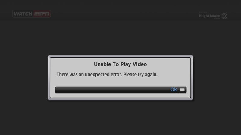 Illustration for article titled WatchESPN Goes Down During One Of Biggest ESPN Broadcasts Ever