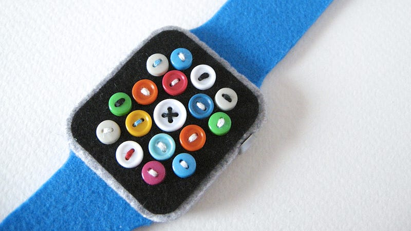 Illustration for article titled An Adorable Felt Apple Watch That Never Needs Charging