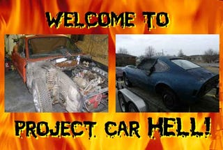 Illustration for article titled Project Car Hell, Bankruptcy Bundle Edition: Saab Sonett or Turbo Opel GT?