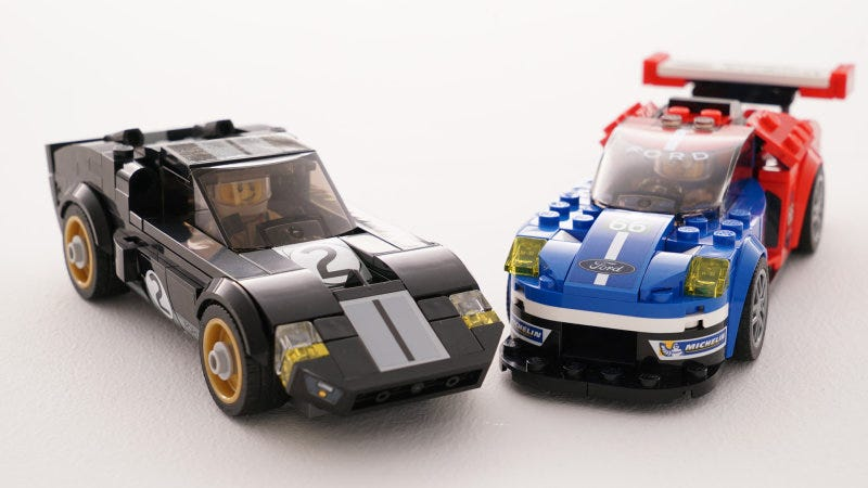 Illustration for article titled I Can't Wait To Pretend To Buy This Lego Ford GT And GT40 Set For My Kids