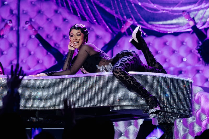 LOS ANGELES, CALIFORNIA - FEBRUARY 10: Cardi B performs onstage at the 61st annual GRAMMY Awards at Staples Center on February 10, 2019 in Los Angeles, California.