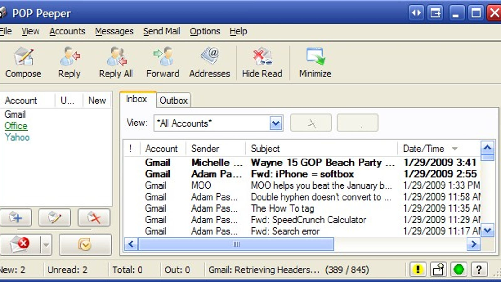pop peeper gmail