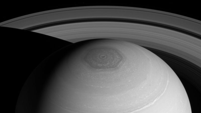 Saturn's hexagon from Cassini