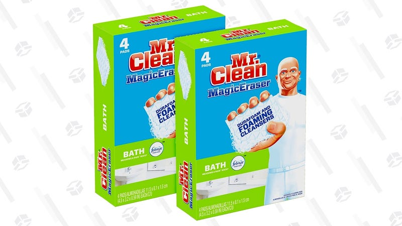Mr. Clean Magic Eraser Bath, Cleaning Pads with Durafoam | $7 | Amazon | Use $4 off coupon
