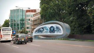 Illustration for article titled Zaha Hadid Has Designed the World's Worst Billboard