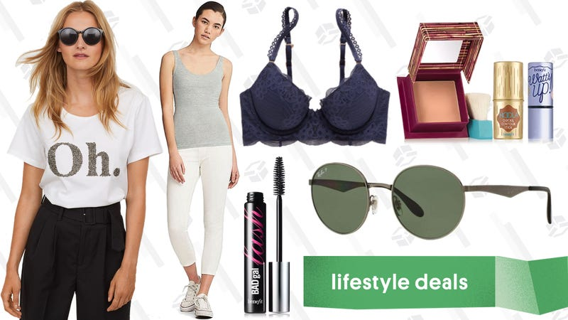 Illustration for article titled Friday's Best Lifestyle Deals: Ray-Bans, Uniqlo, Benefit Cosmetics, Aerie, and More