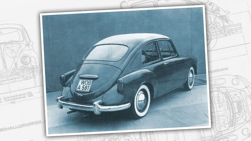 Illustration for article titled Meet The Bizarre 1950s Beetle Replacement That Wasn't