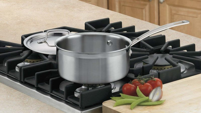 Cuisinart MultiClad Pro Stainless Steel 2-Quart Saucepan with Cover | $28 | Amazon