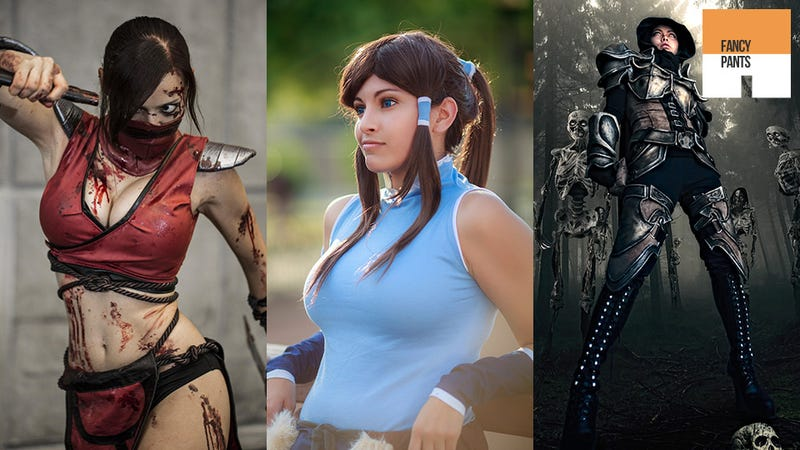 Illustration for article titled Cosplaying Korra Almost Looks Impressed by Heavenly Sword, Skyrim & Final Fantasy Outfits