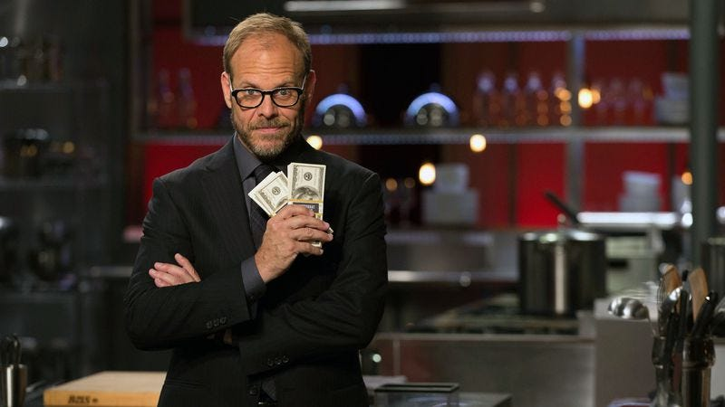 Alton Brown in Cutthroat Kitchen (Photo: Food Network)