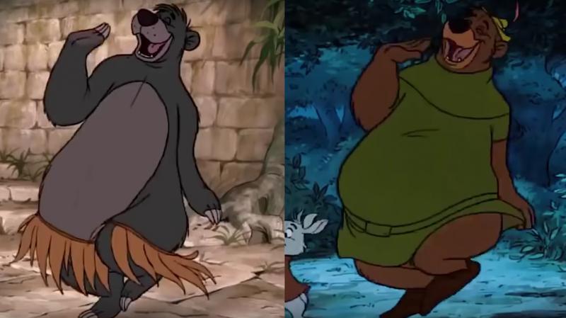 Illustration for article titled Si algunos personajes y escenas de Disney te resultan familiares es porque la compañía las ha copiado de su propias películas