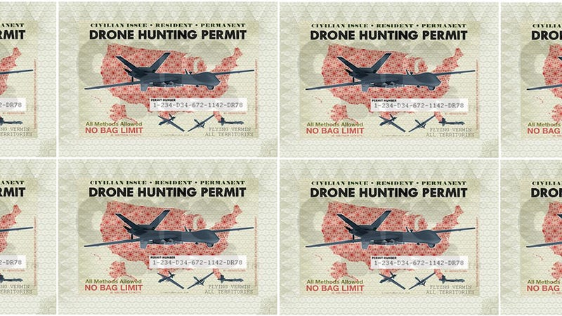 Illustration for article titled Colorado Town Wants to Issue Drone Hunting Permits