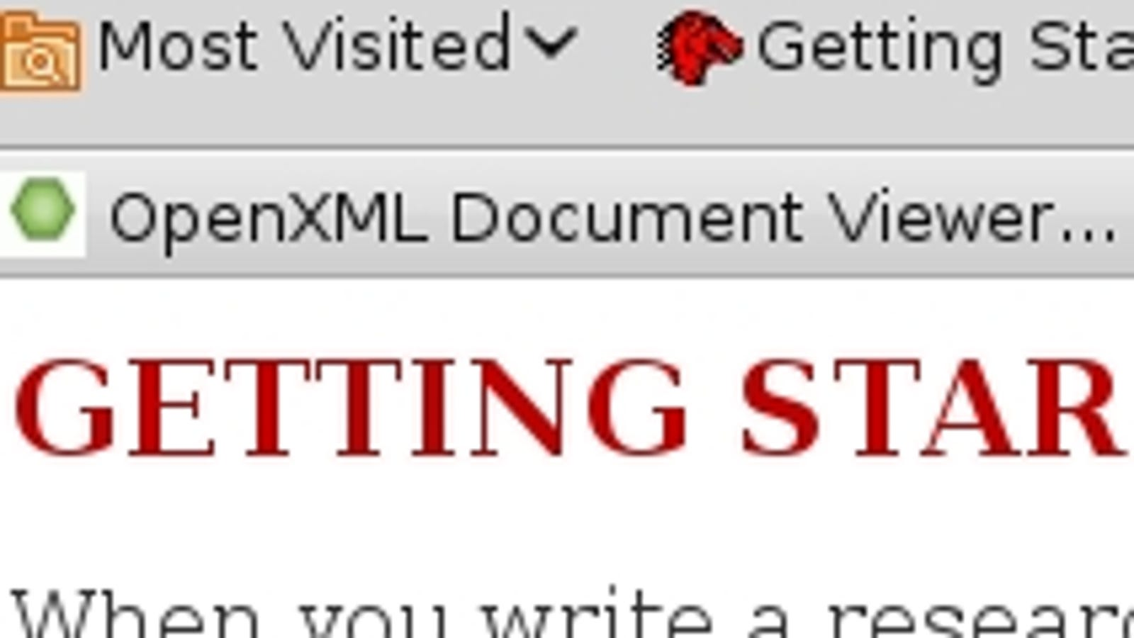 OpenXML Document Viewer Opens Office 2007 Files in Firefox