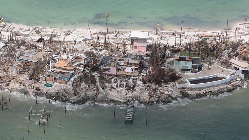 Great Abaco Island, Bahamas, photographed on September 4 after Hurricane Dorian.