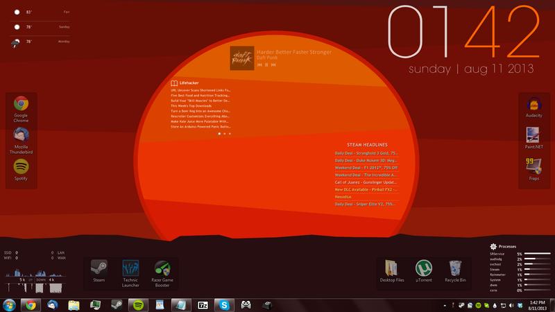 Illustration for article titled Minimal Get Lucky Desktop