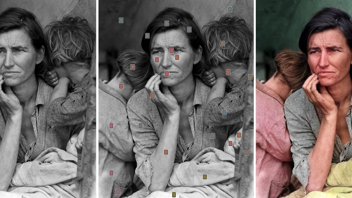 Ai powered software makes it incredibly easy to colorize black and white photos