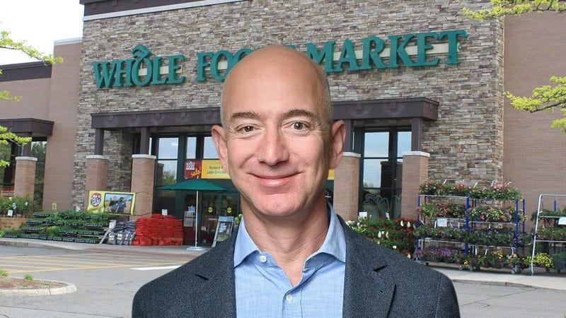 Jeff Bezos at Whole Foods.