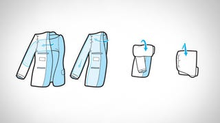 Illustration for article titled The Most Compact Way to Pack a Formal Jacket in Your Carry-on